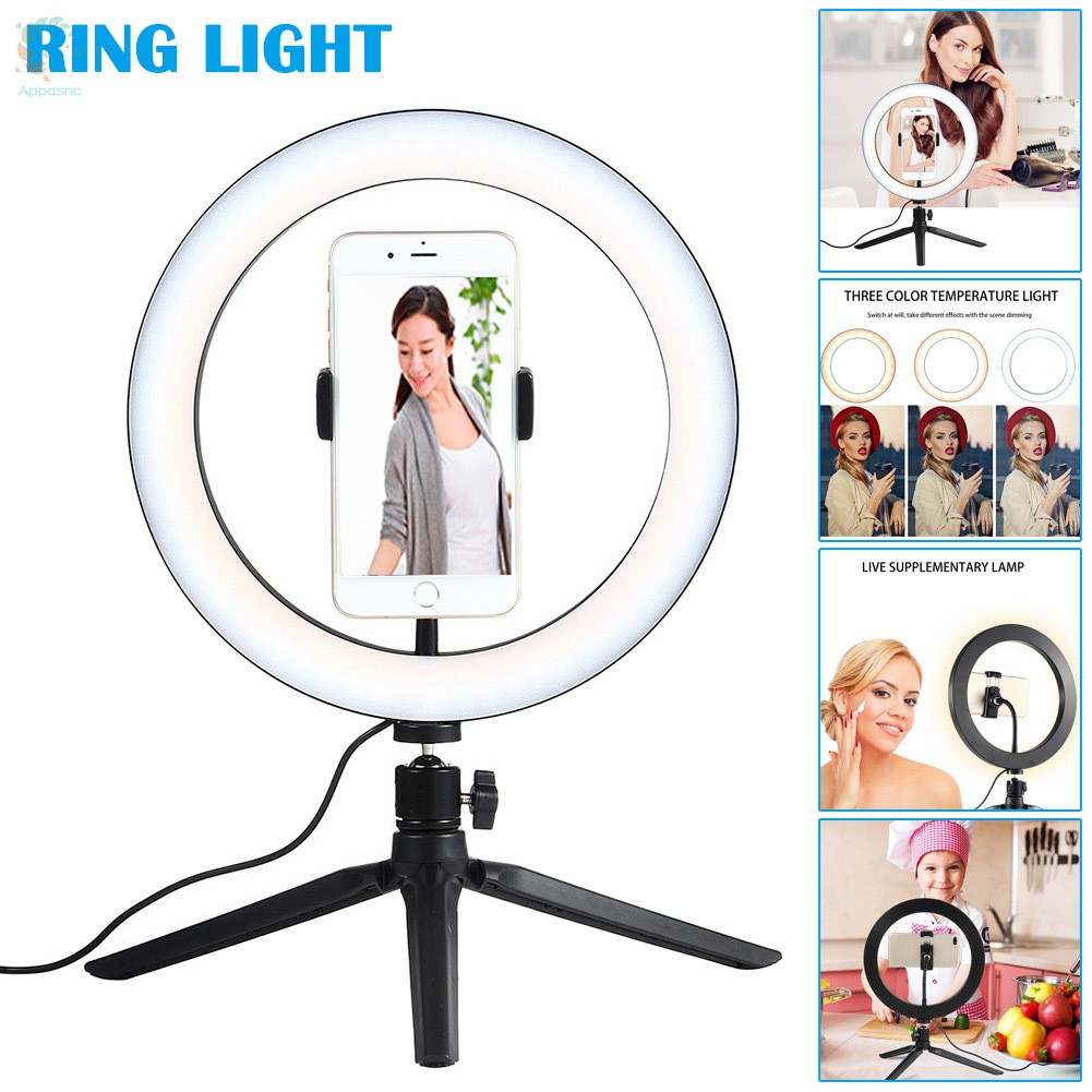 [BEST] 10inch Dimmable LED Ring Light Phone Holder with Tripod Stand for Makeup Camera Video Shooting
