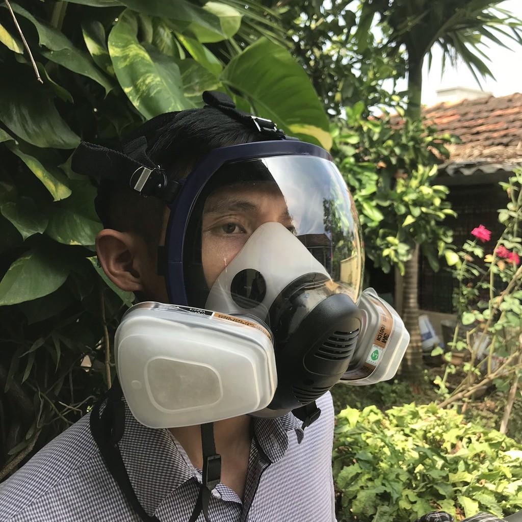 Bộ mặt nạ phòng độc 6800 7 chi tiết , phun sơn, Phun thuốc sâu, phòng độc khói đám cháy