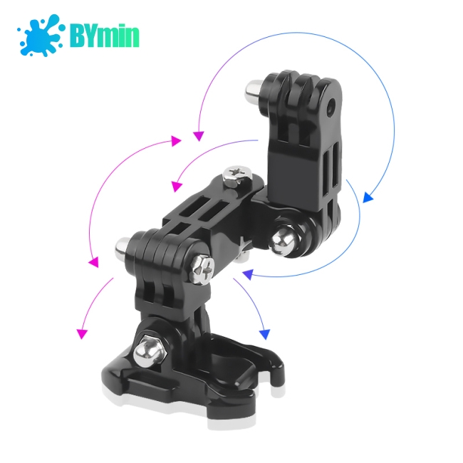 For GoPro hero6/5/4 Motorcycle Helmet Chin Bracket Turntable Button Mount Action Cam Accessories-TQ
