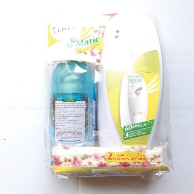 [ XỊT PHÒNG TỰ ĐỘNG ] Máy xịt tự động nước hoa thơm phòng ( tặng kèm chai xịt) - MITUHOME - Giúp khử mùi phòng