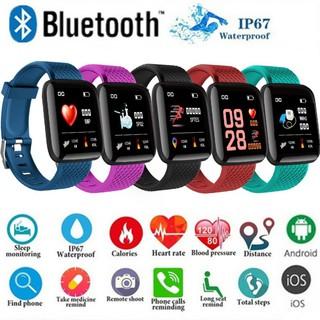 Đồng hồ thông minh 116 Plus Bluetooth màn hình màu chống nước hỗ trợ theo dõi huyết áp