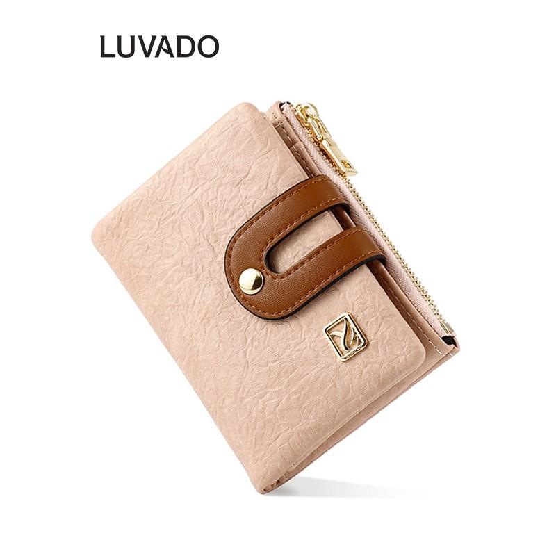 Ví nữ nhỏ ngắn bỏ túi TAOMICMIC nhiều ngăn cao cấp đựng tiền cute dễ thương LUVADO VD380