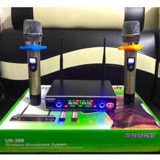 Micro Karaoke Không Dây SHURE UR368 Chinh Hãng Cực Hay Led 7 Màu