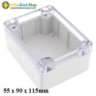 Hộp nhựa mặt kính trong suốt KT 55*90*115mm