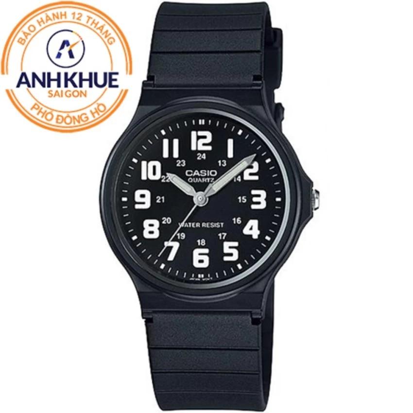 Đồng hồ nữ dây nhựa Casio Anh Khuê MQ-71-1BDF