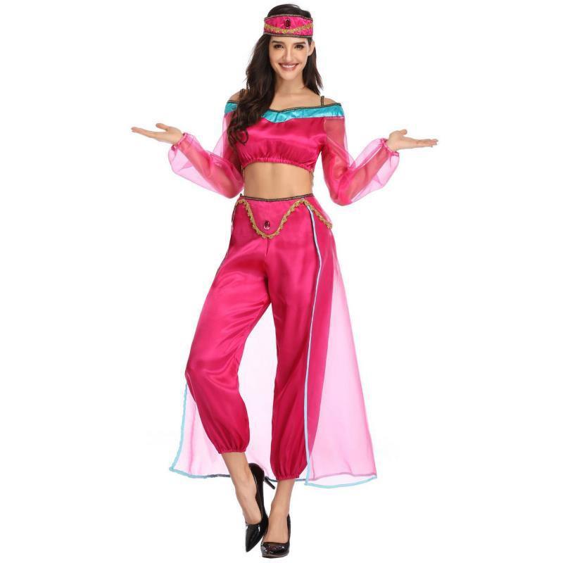 Bộ Đồ Hóa Trang Công Chúa Jasmine Đáng Yêu Dịp Halloween 2020