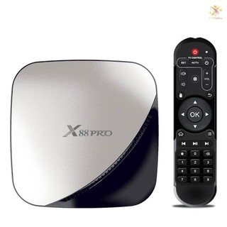 Bộ Tv Box X88 Pro Android 9.0 Rk3318 Lõi Tứ 64 Bit Uhd 4k Vp9 H.265 2gb / 16gb 2.4g / 5g