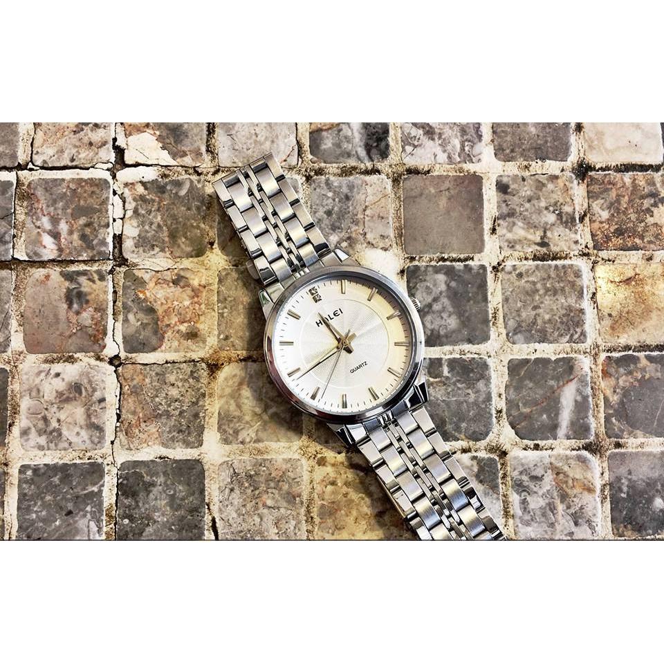 Đồng hồ nữ HALEI chống nước mặt trắng