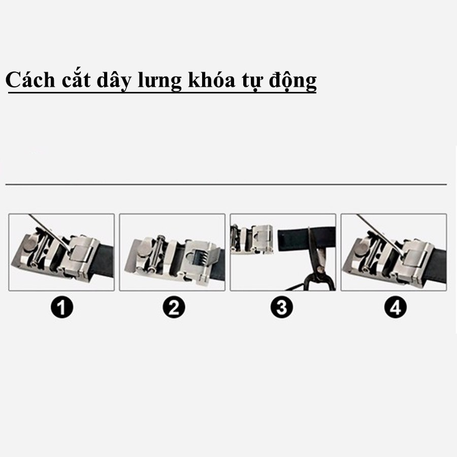 Thắt Lưng Da Nam Chính Hãng, Dây Nịt Da Nam NC01, Khóa Kim Loại Tự động, Bản 3,5cm, Phù Hợp...
