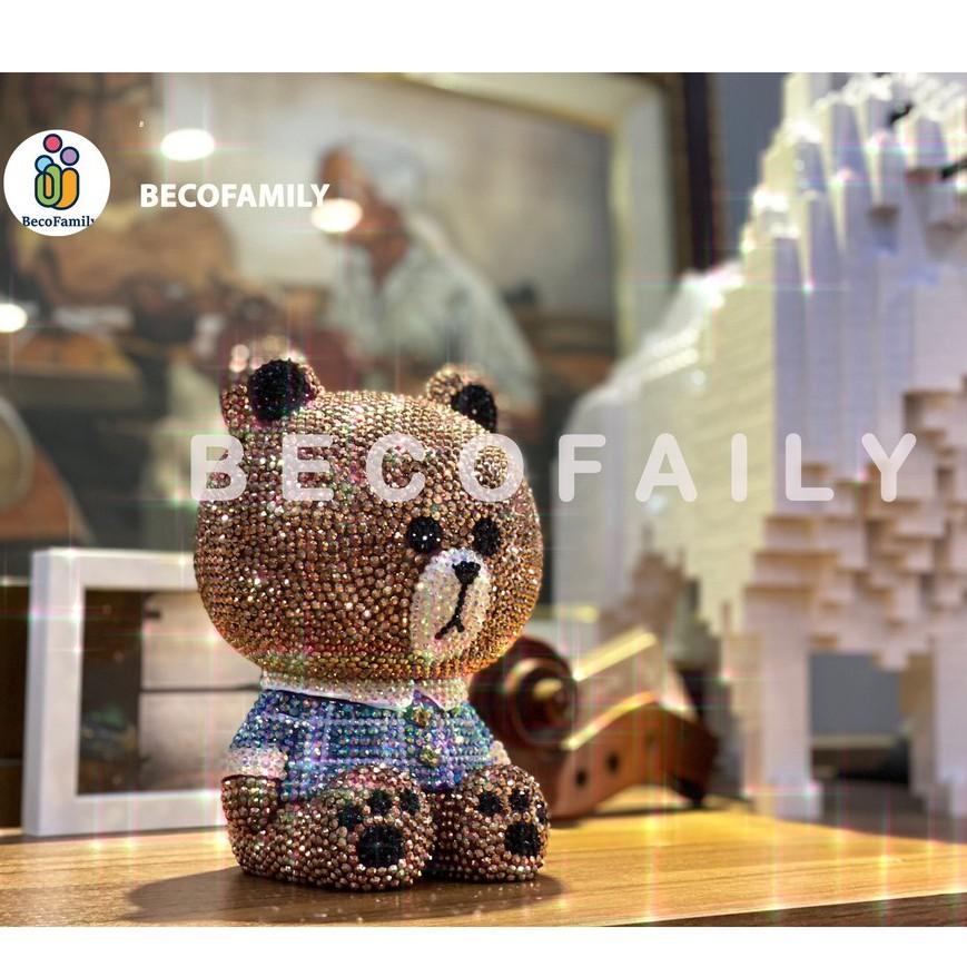 Bearbrick series – Gấu đính đá thời thượng handmade cho bé và mọi lứa tuổi