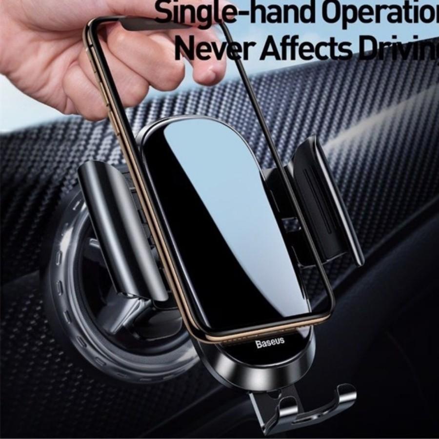 Bộ đế giữ điện thoại trên xe hơi Baseus Future Gravity Vehicle-mounted Holder - LV609-AI-SI
