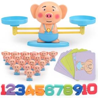 Bộ đồ chơi: Cân số học thông minh cho bé nhận biết số lượng- Cân thăng bằng – Vui toán học