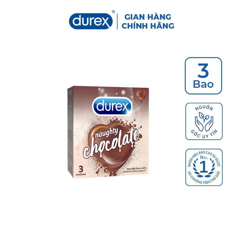 Bao cao su Durex Naughty Chocolate (3 bao/hộp)