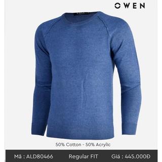 (Đủ Size) . OWEN – Áo len nam Owen cổ tròn màu xanh ALD 80466 Cực Đẹp . . 002 👈 ⇤