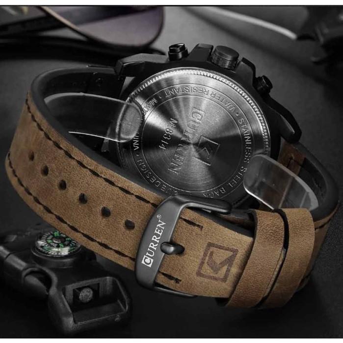Đồng hồ nam chính hãng Curren AC01 dây da cao cấp đeo êm tay, chay full kim, chống nước cực tốt