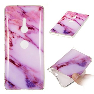 Sony Xperia XZ3 Marble Granite Veins Casing Soft Cover TPU Case