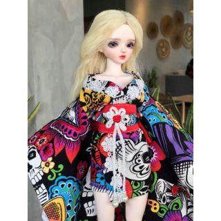 Bộ Rập giấy cứng Kimono ngắn cho búp bê 1/4