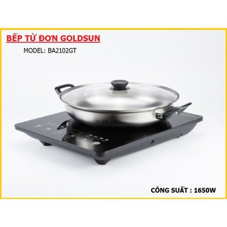 Bếp từ đơn Goldsun Model BA2102GT ( Tặng Nồi Nấu - Lẩu )