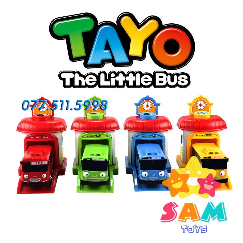 Bộ 4 xe TAYO Bus có nhà xe kích thước lớn vô cùng dễ thương (HÌNH THẬT 100%)