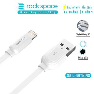 Cáp sạc nhanh iPhone, Samsung Rockspace S5 chuẩn lightning,micro, dây dẹt chống dối, hàng chính hãng bảo hành 12 tháng