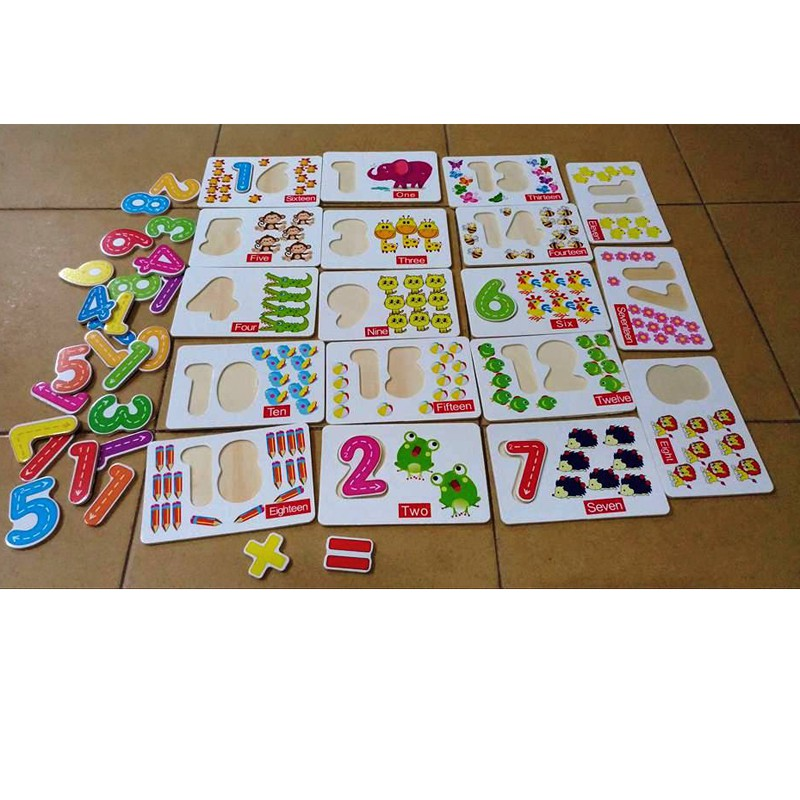 Đồ chơi gỗ Bộ thẻ số gỗ - BA96