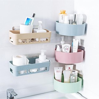 Kệ Nhựa Gắn Góc Tường Nhà Tắm / Nhà Bếp Đựng Đồ Dùng Tiện Dụng