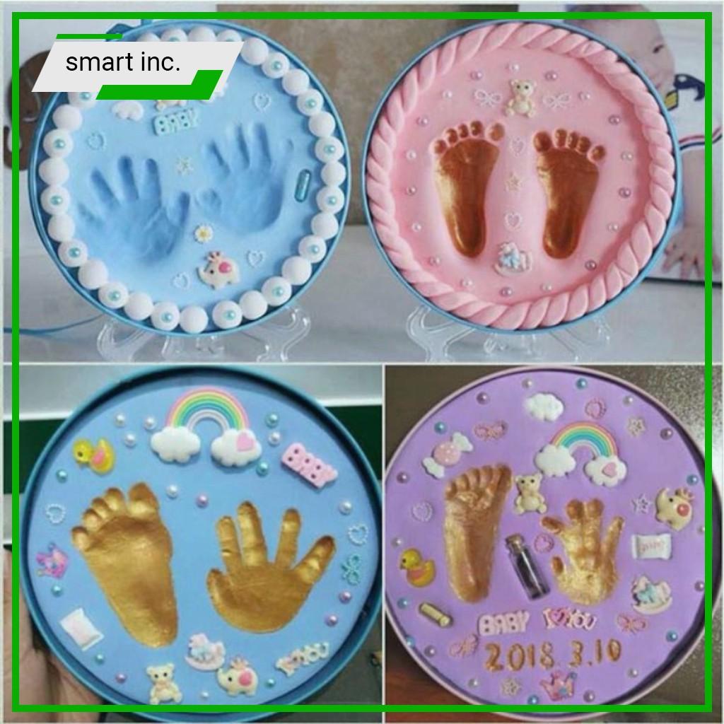 Hộp In Dấu Tay Chân Bé 👄FREESHIP👄 Bộ Đất Nặn In Dấu Chân Tay Cho Bé Baby Hands And Feet...