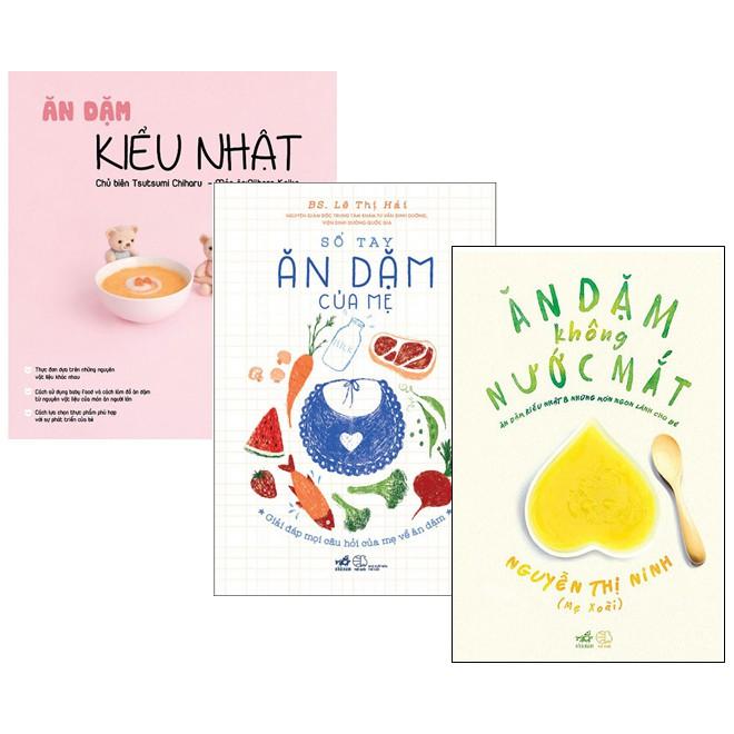 Sách - Combo 3 quyển ( Ăn dặm kiểu Nhật + Ăn dặm không nước mắt + Sổ tay ăn dặm của mẹ )