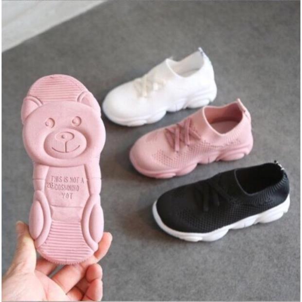 Giày chun đế gấu trẻ em