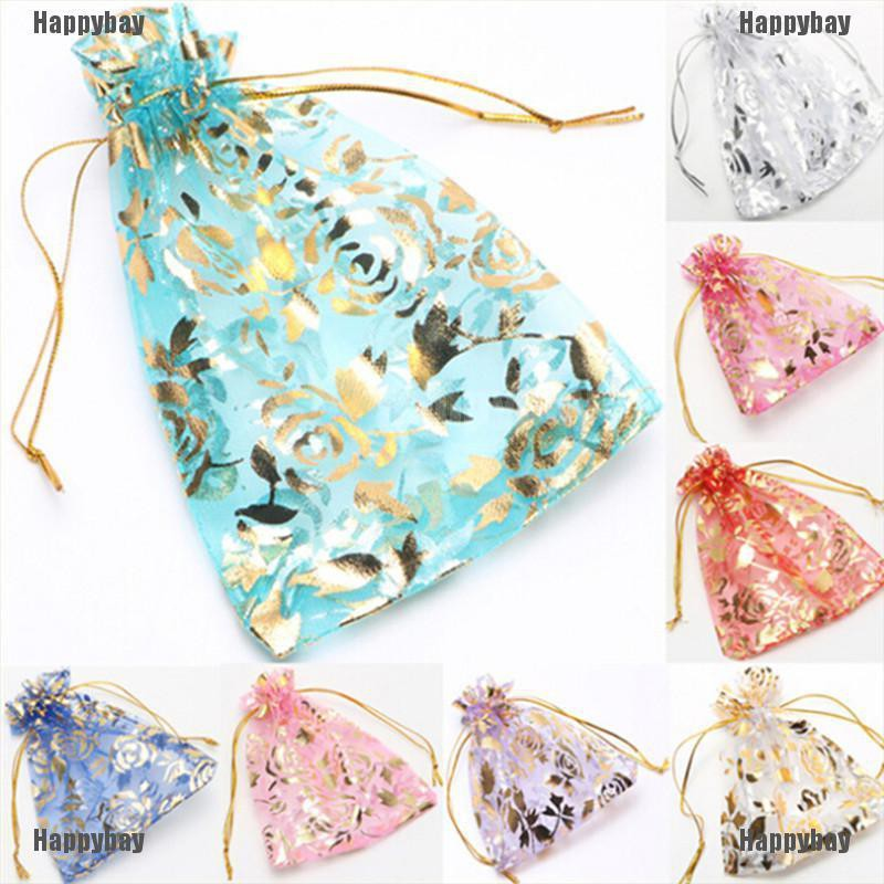 Happybay 10PCS Multicolor Organza Jewelry Candy Gift Pouch Bags Wedding Party Xmas Favors