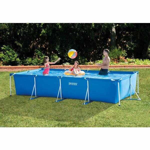 [Giảm Giá] Bể bơi khung kim loại chịu lực chữ nhật 4.5m X 2.2m cao 84cm tháo lắp dễ dàng, đẹp và bền bỉ tặng bóng nước