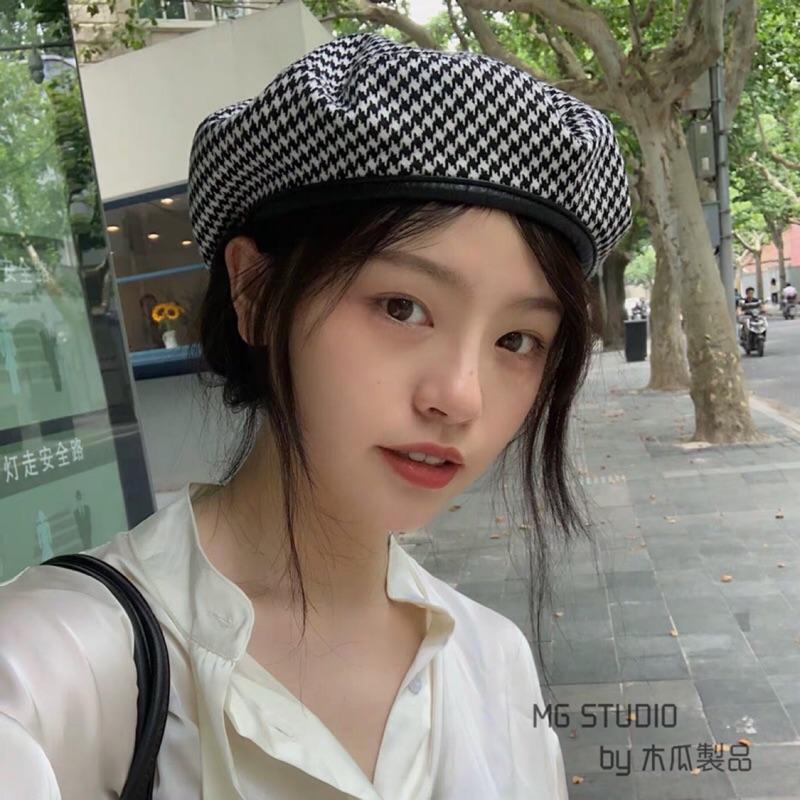 Mũ nồi thời trang kiểu dáng xinh xắn bằng da phong cách Châu Âu truyền thống