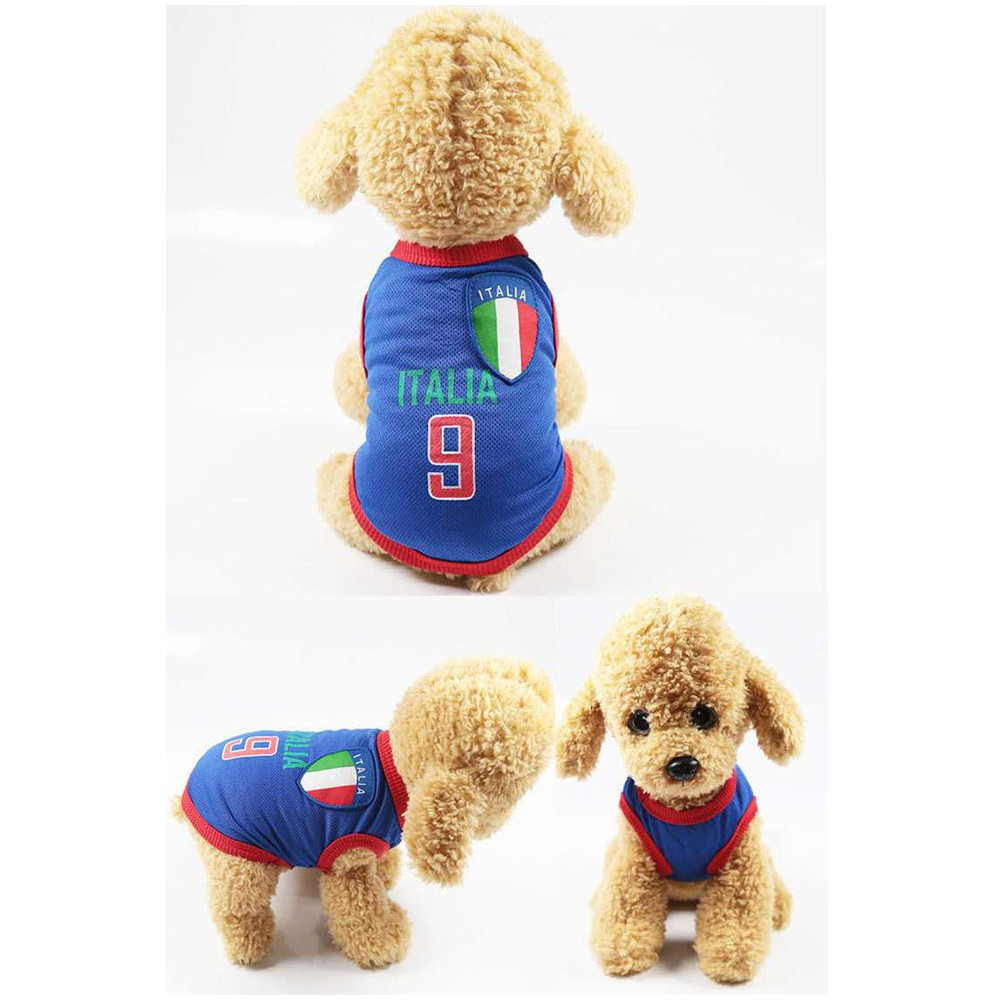 Dog Soccer Jersey – Italy World Cup Clothes Vest Shirt