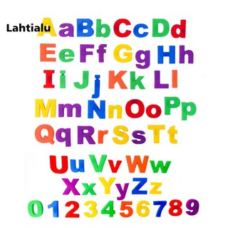 Lahtialu 26Pcs Lower/Upper Case Alphabet Letters Number Fridge Magnet Kid Learning Toy