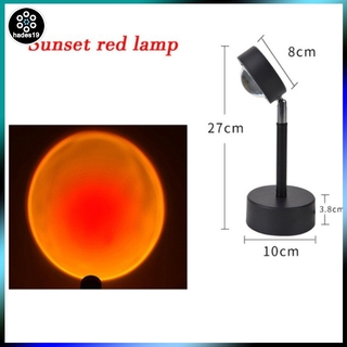 Light For Bedroom Bar Coffee Store Wall Decoration Lighting Projection Night Projector Led Usb Red Sunset Rainbow Sun