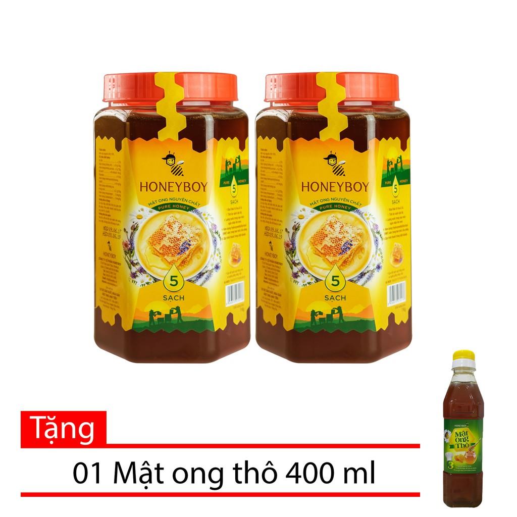 Bộ 2 Mật Ong Thiên Nhiên 5 sạch Honeyboy 1kg tặng chai Mật Ong Thô Honeyboy 400ml - 10041880 , 1307063496 , 322_1307063496 , 370000 , Bo-2-Mat-Ong-Thien-Nhien-5-sach-Honeyboy-1kg-tang-chai-Mat-Ong-Tho-Honeyboy-400ml-322_1307063496 , shopee.vn , Bộ 2 Mật Ong Thiên Nhiên 5 sạch Honeyboy 1kg tặng chai Mật Ong Thô Honeyboy 400ml