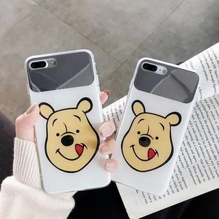 FOR OPPO F9 F5 F1S A57 A39 A83 A7 A5S RENO A3S Winnie the Pooh makeup mirror Hard phone Case