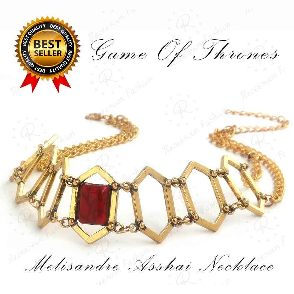 The Song Of Ice And Fire Necklace Game Of Thrones Melisandre Choker Collectible