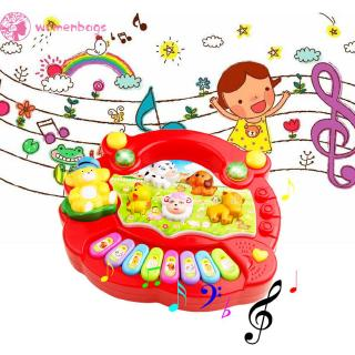 WB✿Kids Musical Developmental Animal Farm Piano Sound Educational Toy