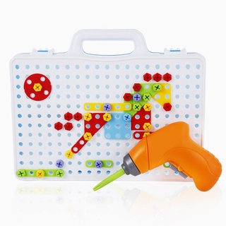 HERE 【ready Stock】Children's Electric Drill Nut Toy Play Tools