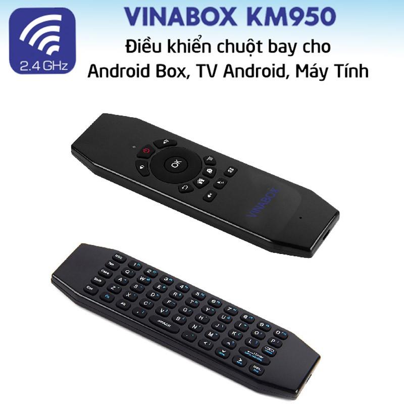 Chuột bay Air Mouse Vinabox KM950 2018 cho androi tivi box, máy tính