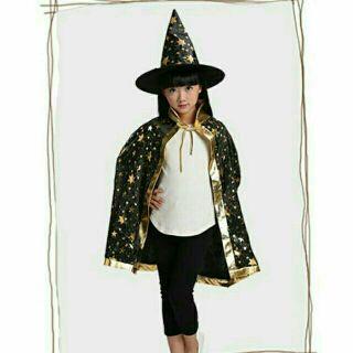 Bộ mũ và áo choàng phù thủy hallowen