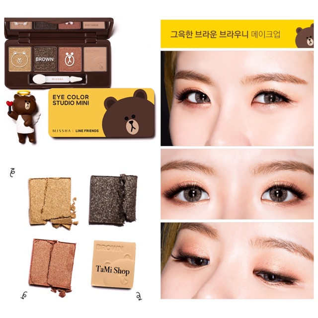 Phấn mắt Missha Line Friends Eye Color Gấu Brown