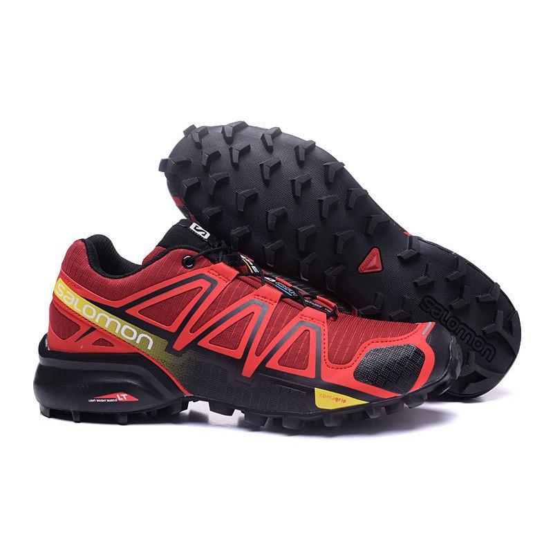 <AA> รองเท้าวิ่ง Speed Cross 4 สำหรับผู้ชาย Red Salomon