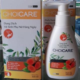 Dung dịch vệ sinh phụ nữ với tinh dầu nghệ và tràm trà choicare ngừa nấm, kháng khuẩn, khử mùi thumbnail