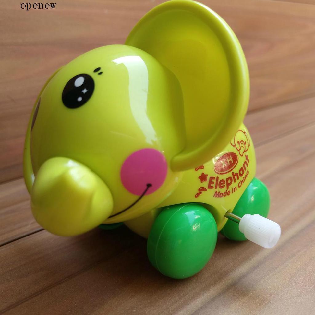 op New Kids Children Toys Simulation Infant Cartoon Puzzle Clockwork Elephant Toys
