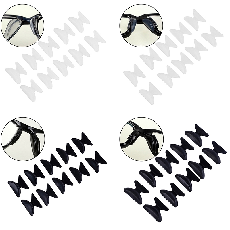【MER】5Pairs Glasses Eyeglass Sunglass Spectacles Anti-Slip Silicone Stick On Nose Pad