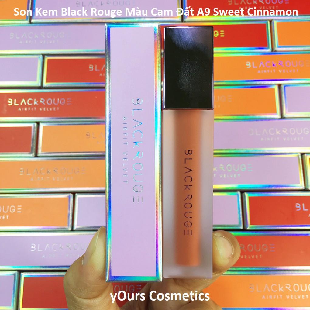 [Auth Hàn] Son Kem Lì Black Rouge A9 Màu Cam Đất Sweet Cinnamon Version 2 - Son Lì Dạng Kem Màu Cam Gạch Black Rouge A9