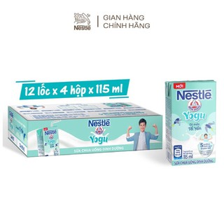 Thùng sữa chua uống dinh dưỡng Nestle Yogu (48 hộp x 115ml) thumbnail