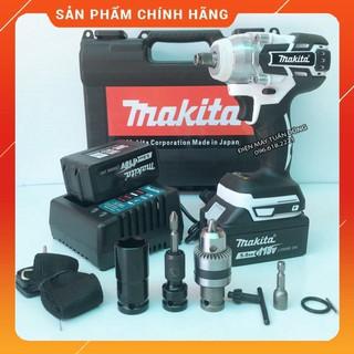 [NHẬP KHẨU] Máy siết bulong Makita 118v, 2 pin 10cell, 100% dây đồng, không chổi than, TẶNG BỘ PHỤ KIỆN [CAM KẾT CHÍNH H